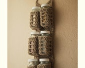 ON HOLD: Rustic Hanging Spice Rack (ready to ship)
