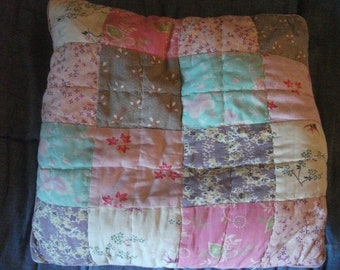 VINTAGE PATCHWORK CUSHION, 40 x 40 cm, insert included