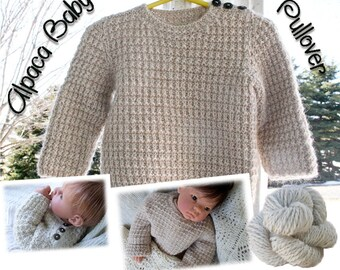 Alpaca Baby Sweater Pullover Pattern Download