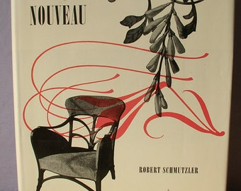 Vintage Art Nouveau book by Robert Schmutzler, 1962, first edition, history book, architecture book, interior design, decorating book