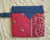 Coin purse from a hanky