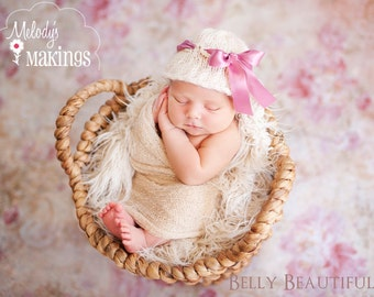 Ribbon Bucket Hat Knitting Pattern - 6 Sizes Included - PDF Sale - Instant Digital Download