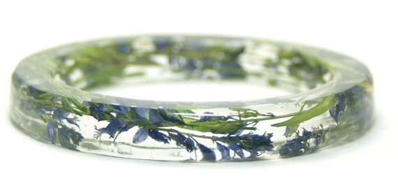 Flower Jewelry- Resin Bangle- Real Flowers- Flower Bracelet- Purple Bangle- Purple Bracelet-Green Bracelet-Resin Jewelry-Resin Bangle