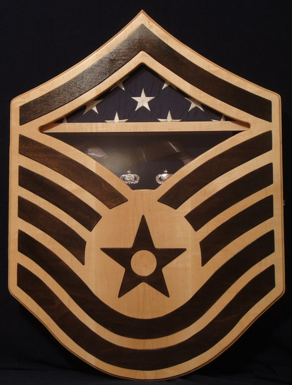 Usaf Msgt Chevron Shadow Box Made To Order
