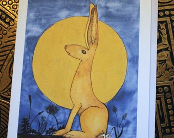 Moon Gazey Golden Hare card