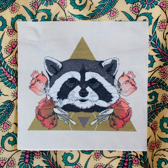 """printed canvas patch - Rocky - 7"""" x 7"""""""