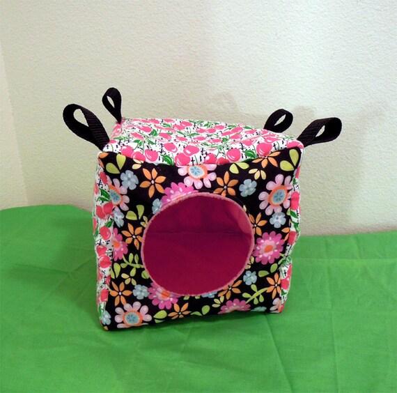 "Rat/Sugar Glider/Ferret Cube Hammock - ""Cherries and Flowers"""