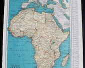 Vintage Map of Africa the African continent