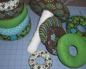 Green, Teal and Brown Ring Stacker