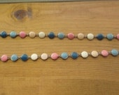 Vintage enamel circle necklace