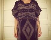 Navajo wool hooded sweater dress