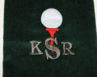 Sports Golf Bowling Towel Embroidered Personalized with or without Grommet Gift for Groom and Groomsmen
