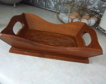 Wooden Give Us This Day Bread Tray