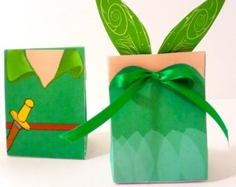 Peter Pan and Tinkerbell Instant Download Treat Boxes