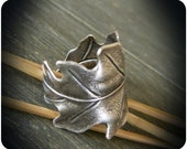 Antique Silver Oak Leaf Cuff Ring