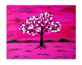 Drop Tree 26 Art Print on Cardstock