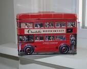 RESERVED Churchill's Double Decker Bus tin bank