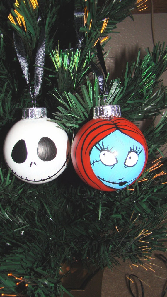 Nightmare before christmas jack and sally ornaments by - Jack skellington christmas decorations ...
