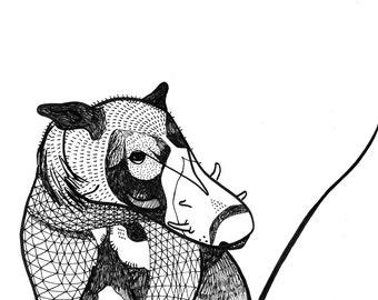 Giant Warthog Print -  Illustration Fine Art