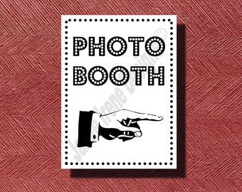Wedding Photo Booth Sign DIY