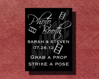 Mariage réception Photo Booth signe