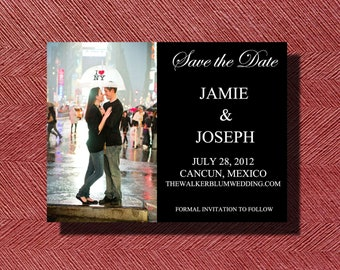 Custom Designed Printable Save the Date Photo Card DIY