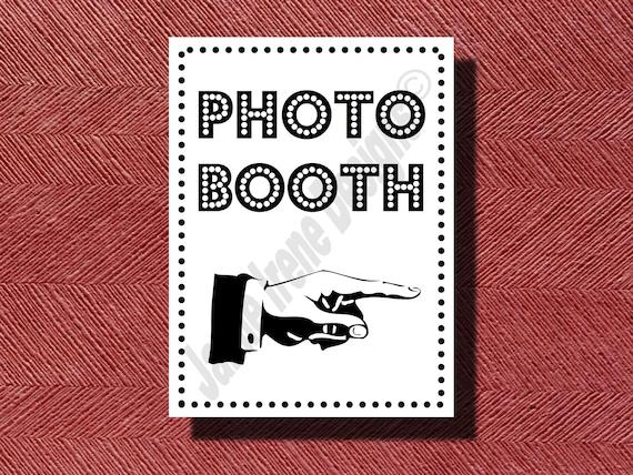 Wedding Photo Booth Sign DIY