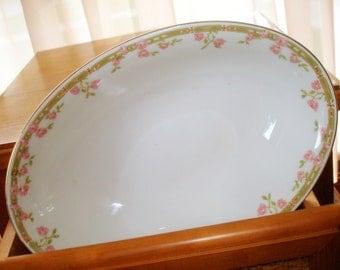 Vintage Bavarian Bowl  Z S & Co. Serving Piece Oval Shape  (See Matching Platter)