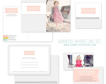 SALE 50% 0ff!! Modern Marketing template package - Instant Download - photographer template - Photoshop template - Photography Template