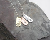 Word necklace Mixed Metal jewellery