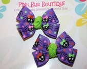 Boutique Itsy Bitsy Spiders Hair Bow Pair