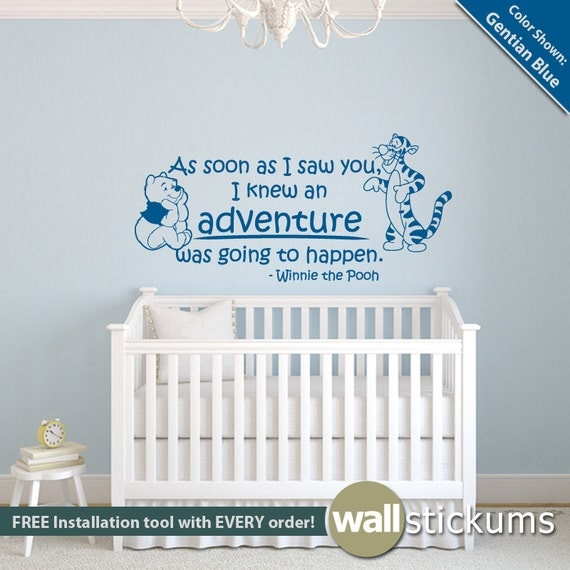 winnie the pooh wall decal quote adventure quote with pooh read me a story nursery wall sticker quote with sleeping