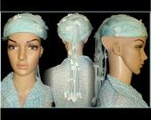 Vintage 1950s Hat  .  Norman Durand  .  Original Femme Fatale Couture Mad Men Garden Party Rockabilly Designer Dress Cocktail Party