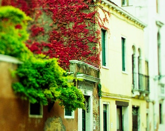 "Venice photography, Venice art print, travel photography - ""November Red"""