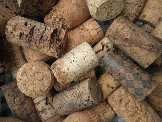 cool lot of 73 old cork stoppers . natural cork . vintage cork