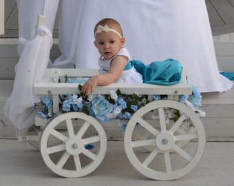 Medium Flower Girl Wedding Wagon - Gloss White or Ivory