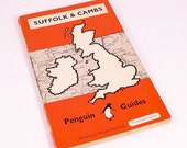 Vintage 1949 Penguin Guide to Suffolk and Cambridgeshire Paperback Book