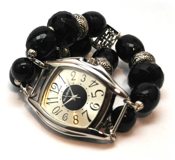 Interchangeable Beaded Watch and Band - Date Night