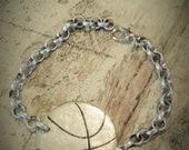 Handstamped Basketball Bracelet