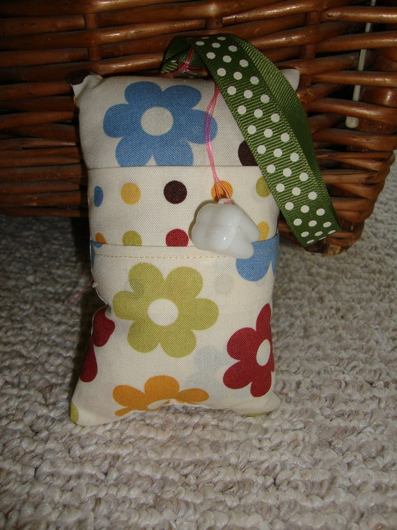 Flowers Tooth Fairy Pillow with tooth holder