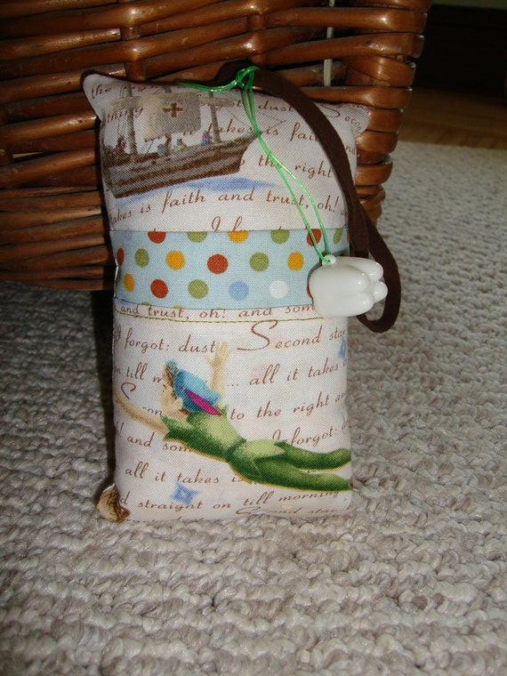 Tooth Fairy Pillow with tooth holder: Peter Pan