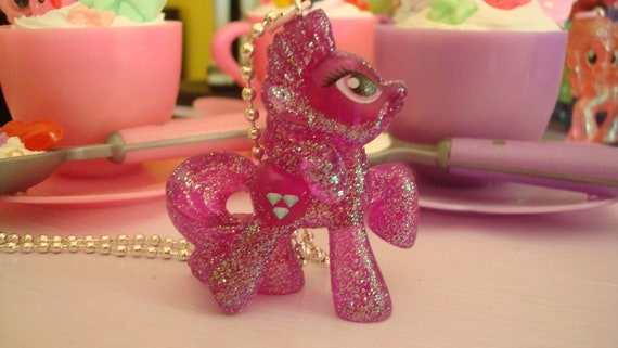 My Little Pony Amethyst Star Limitied Glittery Edition Assembled Kawaii Necklace Dark Purple or cell phone charm you choose