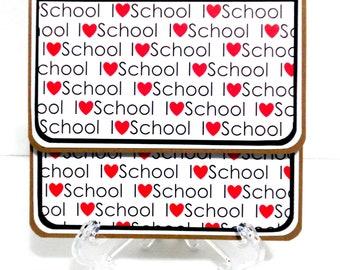 CLEARANCE-I Love School: Gift Card Holder, Gift Card Envelope, Gift Card Box, Money Holder