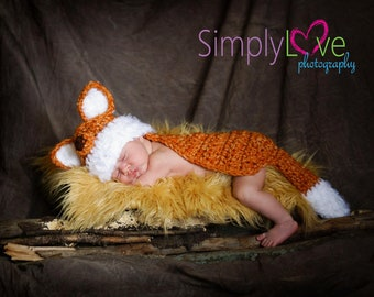 Fox Hat and Cape Set