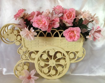 Flower Cart Flower Buggy Hanging Flower Cart Retro Decor