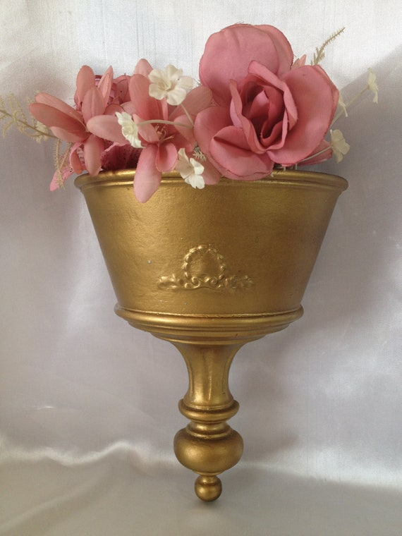 Wall Sconces Planters : Gold Wall Sconce Planter