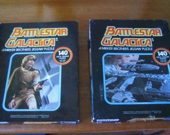 Two Vintage 1978 Battlestar Galactica Puzzles