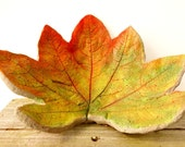 Concrete leaf, fall leaf, rustic fall decor