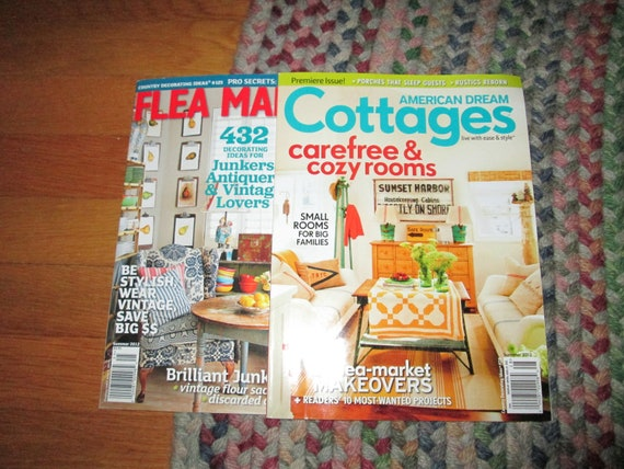 2 magazines cottage and flea market style   new   great idea,s
