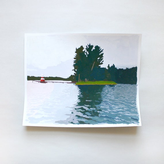"""original landscape - """"Spider Lake"""""""